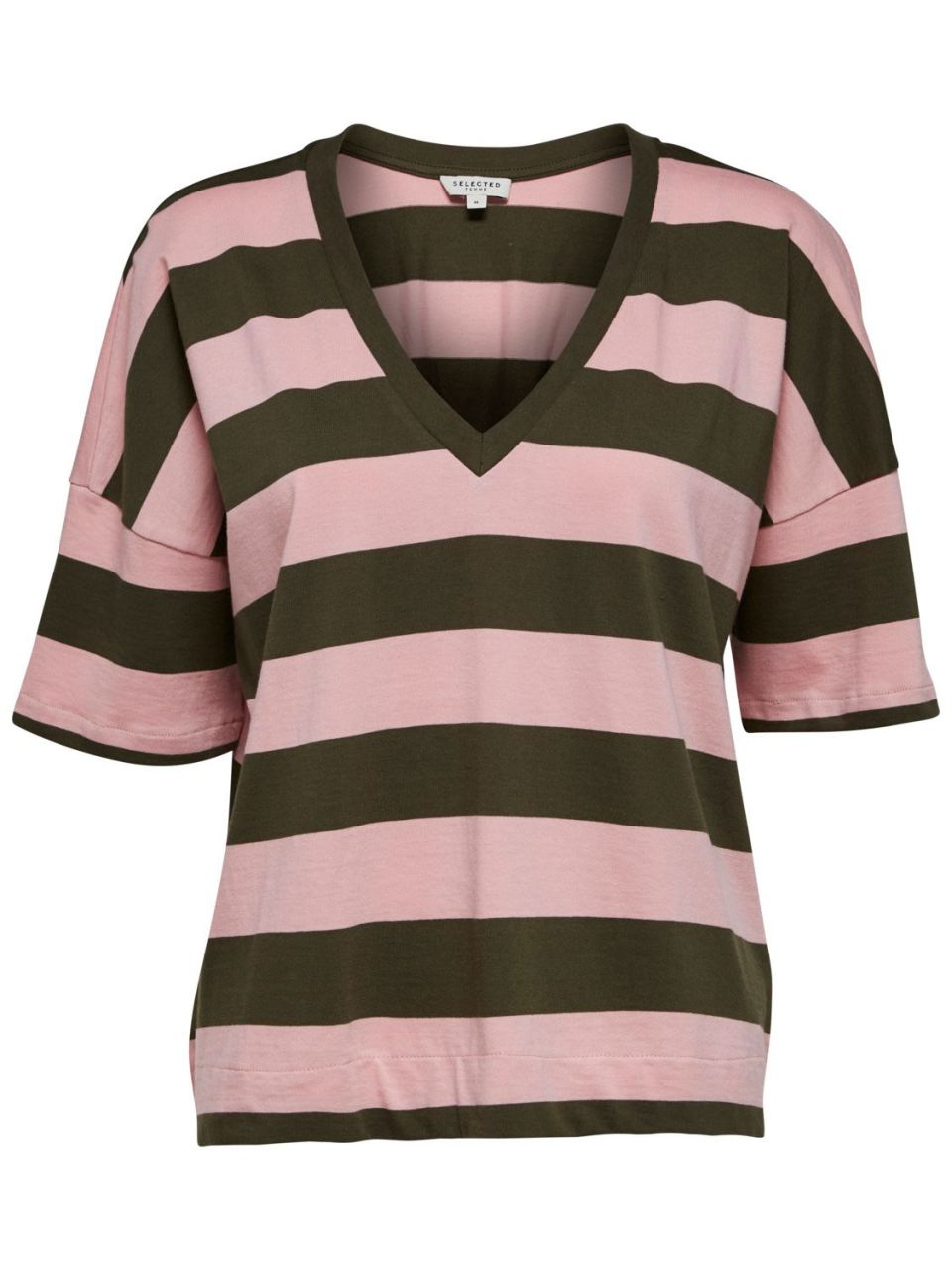 SLFMIMI 2/4 Tee Olive Night Stripe
