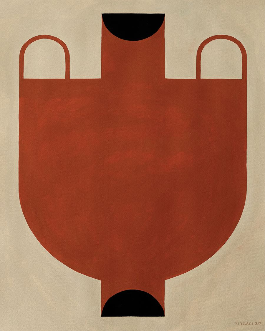 Silhouette of a Vase 06 Poster (40x50cm)