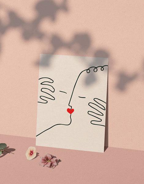 Baiser d'amour Poster (30 x 40cm)