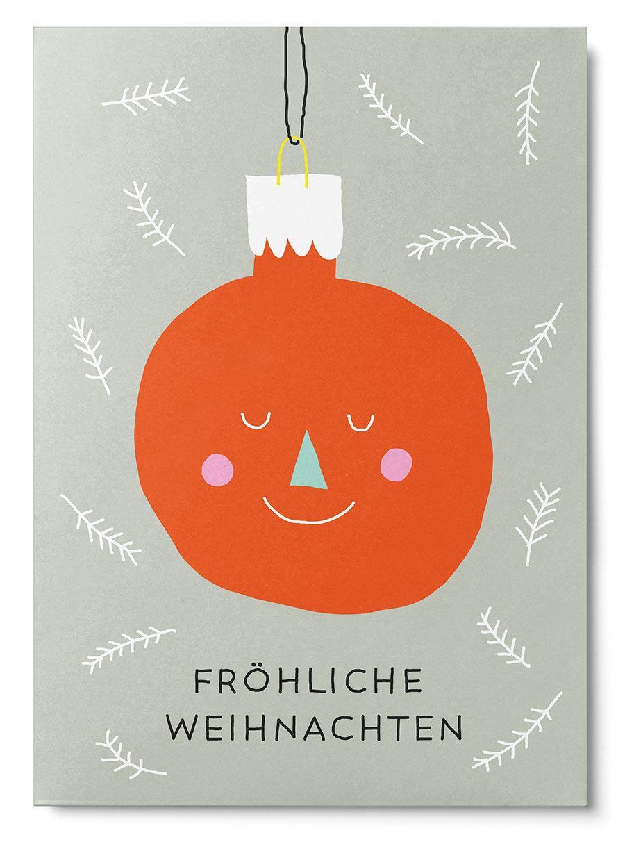 Weihnachtskugel Postkarte