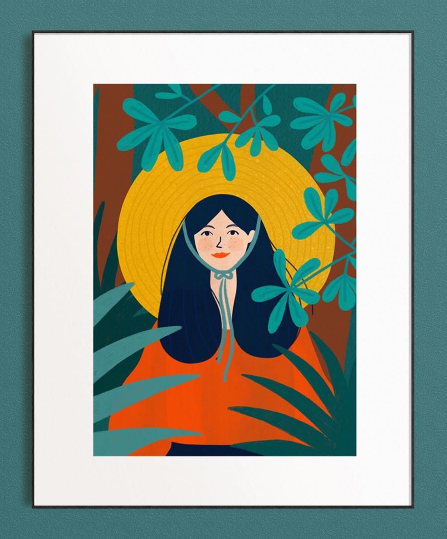 Girl in the Jungle Print (Din A3)