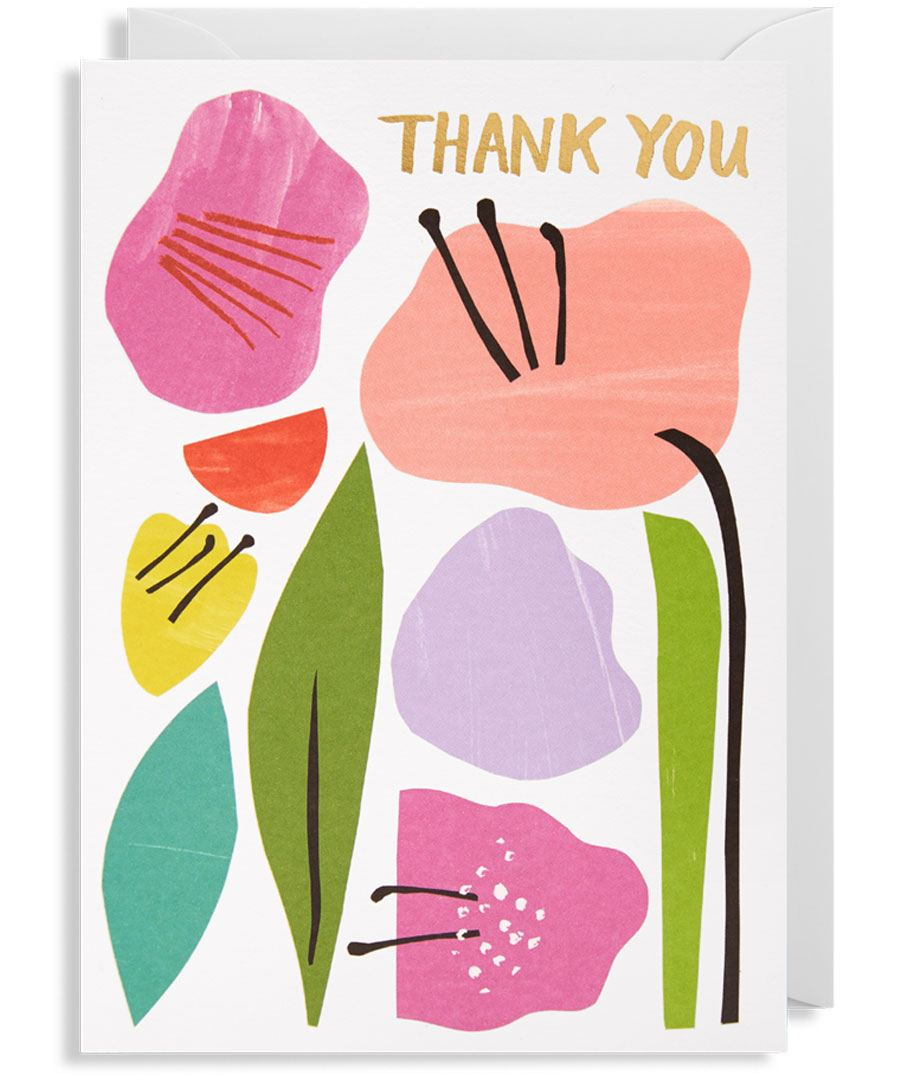 Thank You Flowers Karte