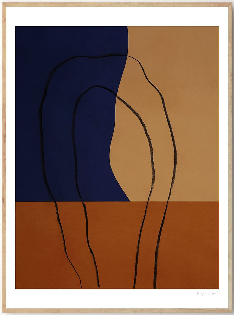 Shapes and Lines No 2 Poster (50x70cm)