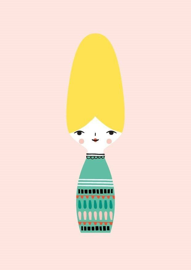 Miss Beehive Postkarte