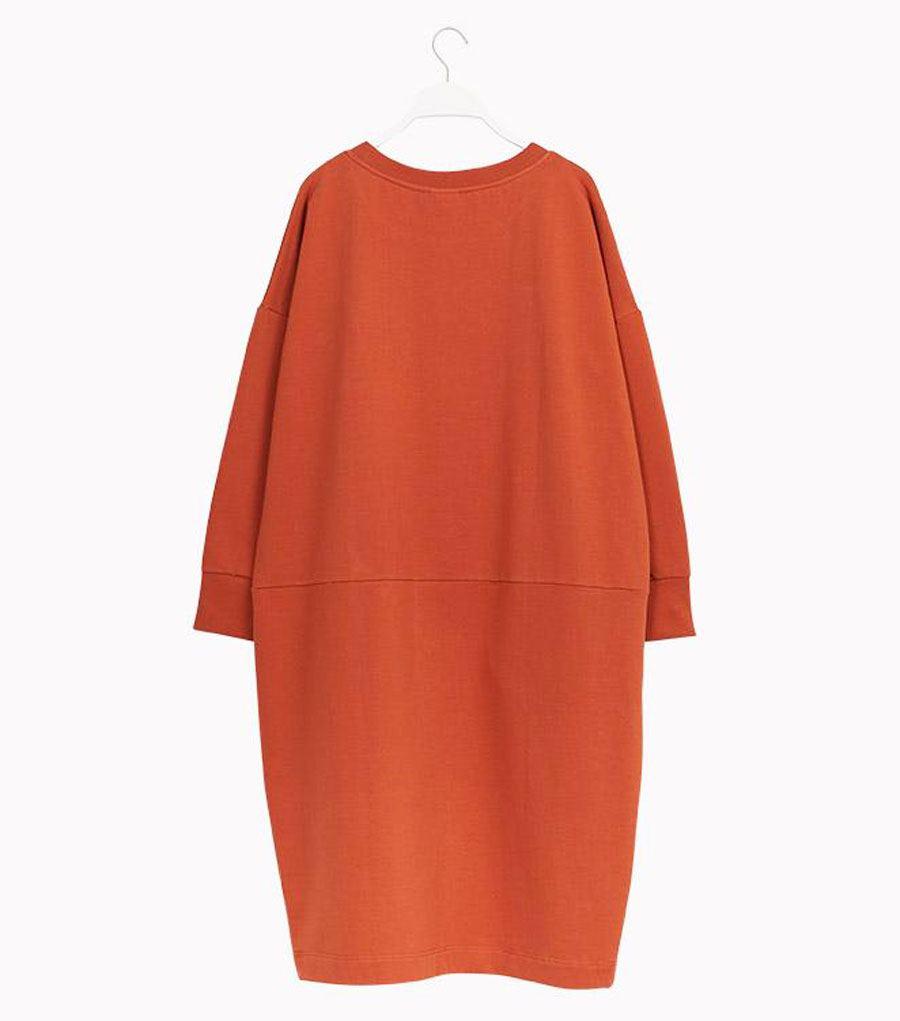 Giant Split Kleid Sugar Brown