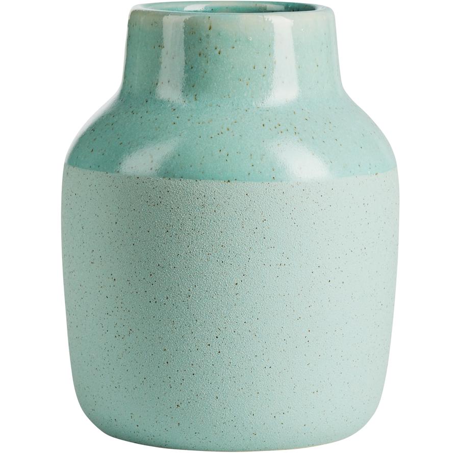 Vase Graphite Mineral Green