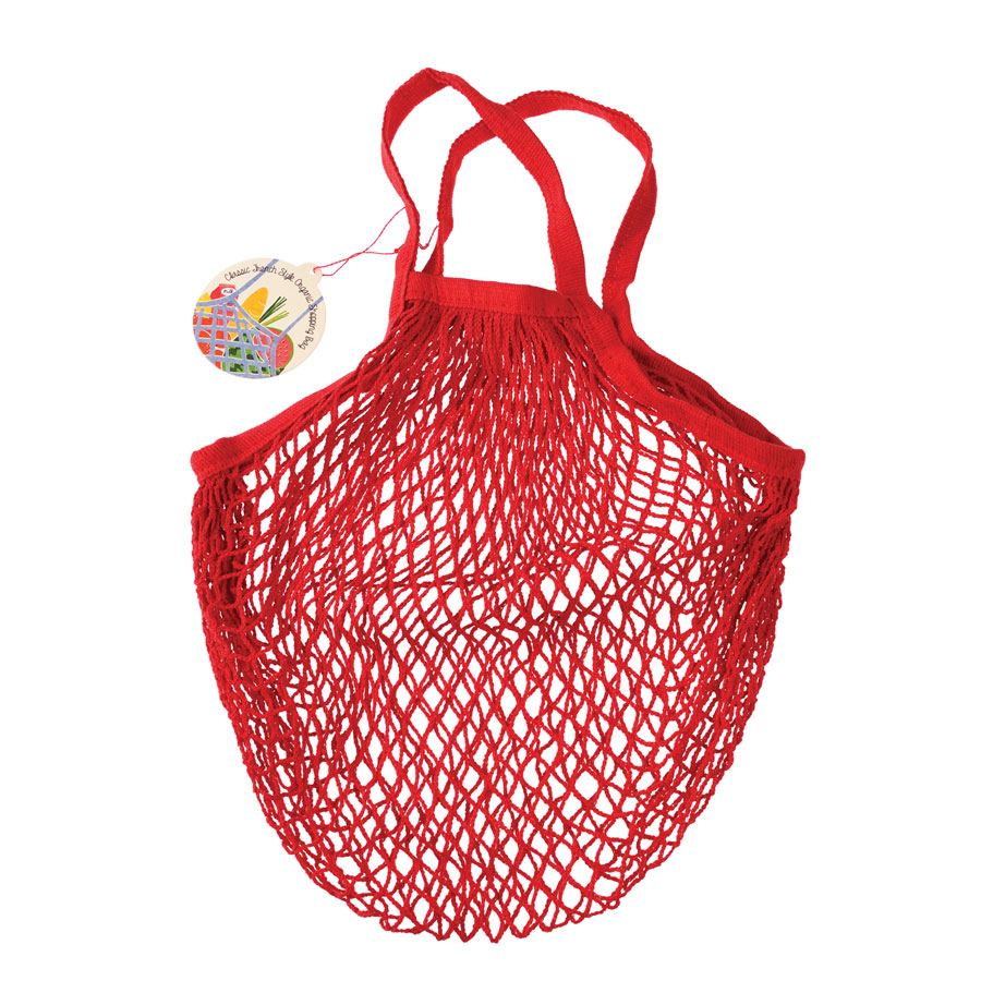 Einkaufsnetz Rot (Bio-Baumwolle)