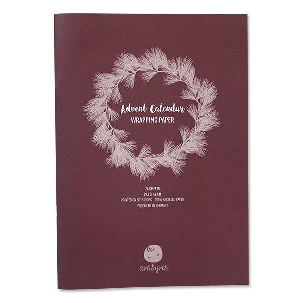 """Adventskalender Geschenkpapier """"Xmas"""""""
