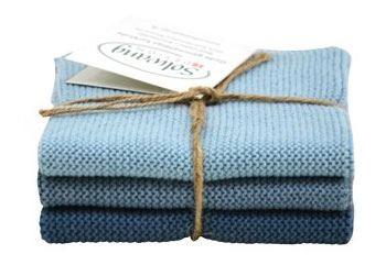 Solwang Wischtuch Rustik Blau Kombi (Bio-Baumwolle)