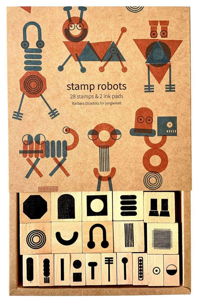 Roboter Stempel-Set