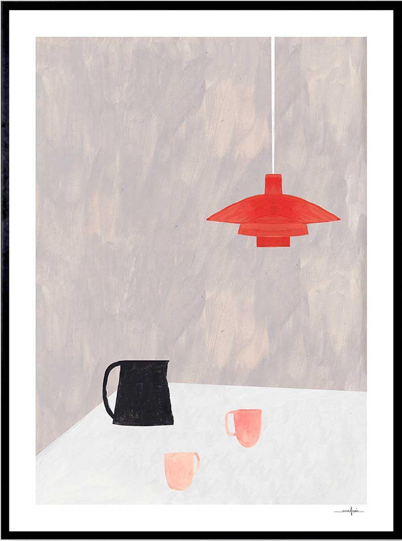 Orange Pendant Print (30 x 40cm)