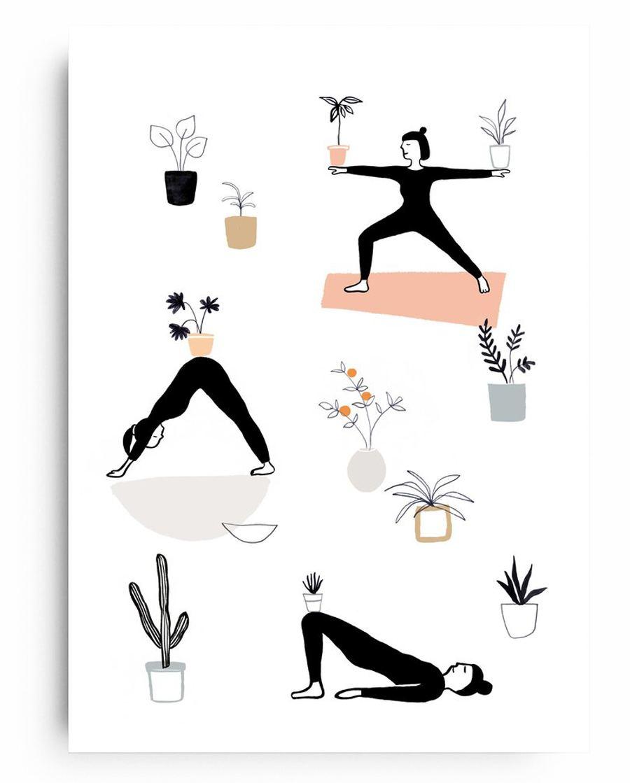 Poster Yoga mit Pflanzen (Din A4)