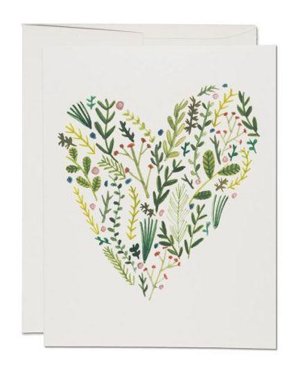 Floral Heart Klappkarte