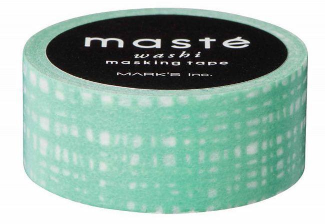 Maste Tape Green Brush Strokes