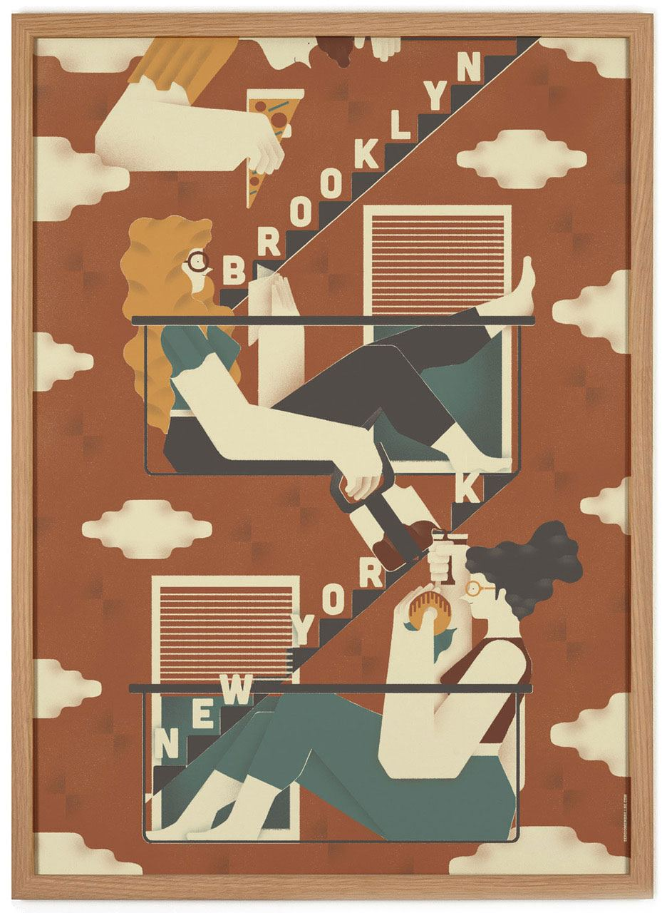 Brooklyn/New York Poster (50 x 70 cm)