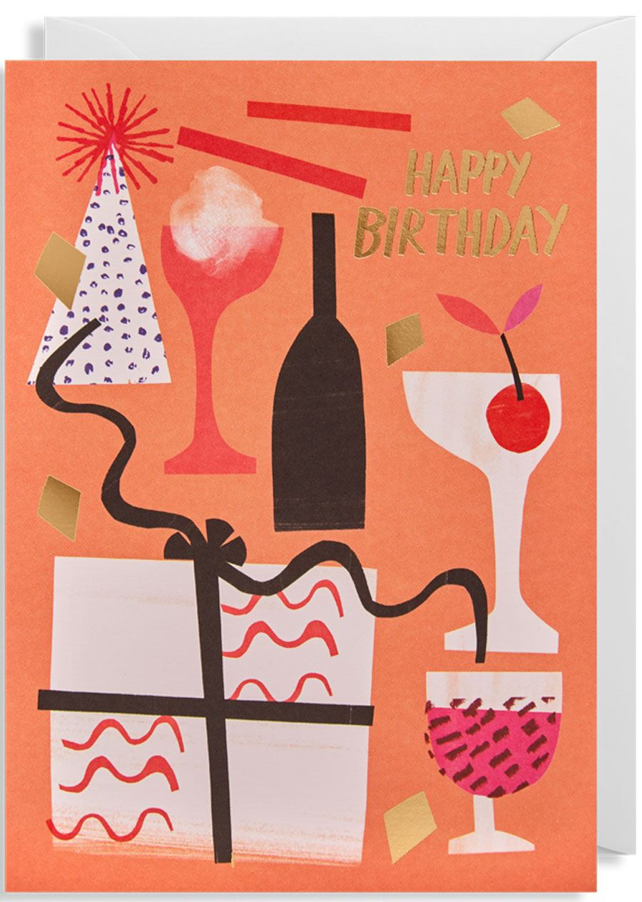 Happy Birthday Party Karte