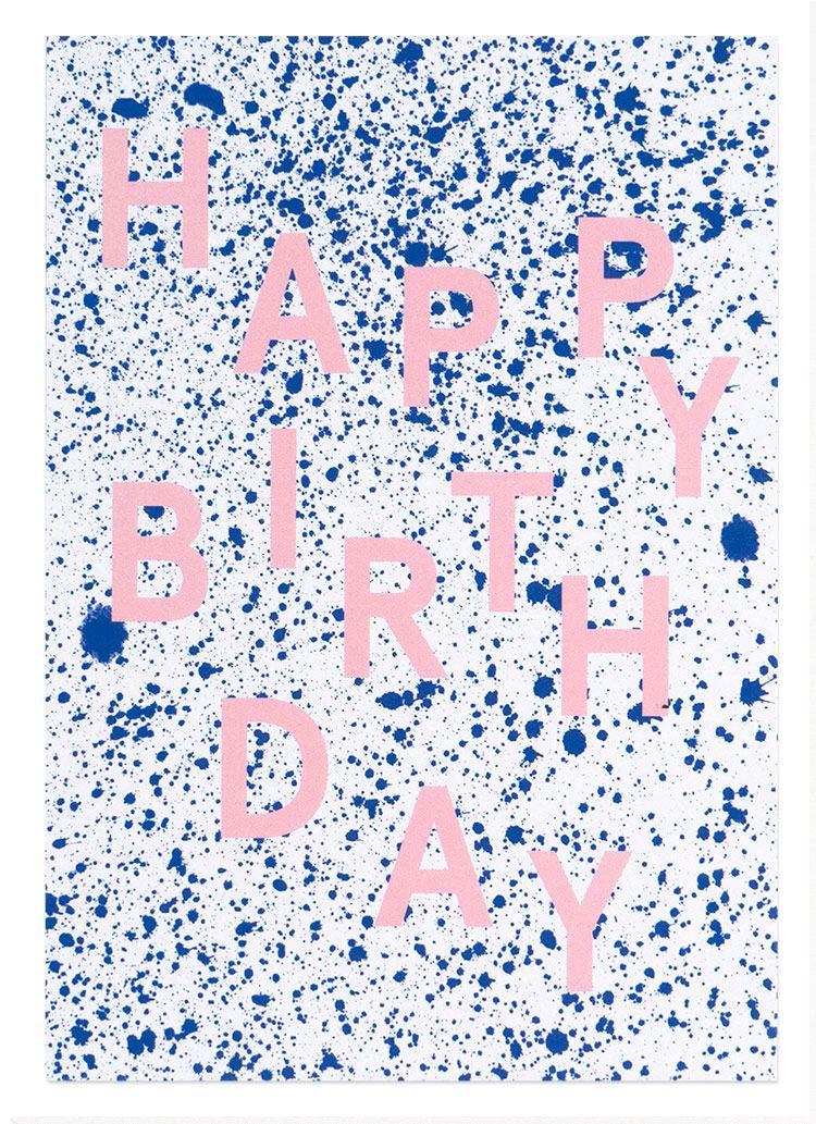 Sprenkel Happy Birthday Postkarte