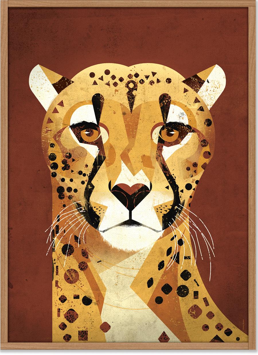 Cheetah Poster (50 x 70 cm)