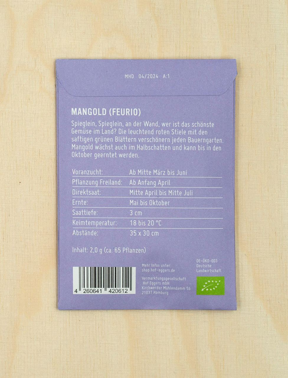 Mangold Feurio, Bio-Saatgut