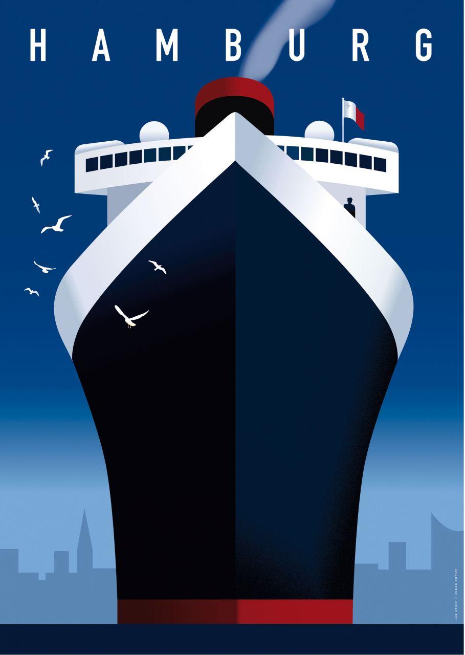 Hamburg Hafen Postkarte