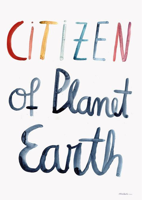 Citizen of Planet Earth Poster (Din A2)