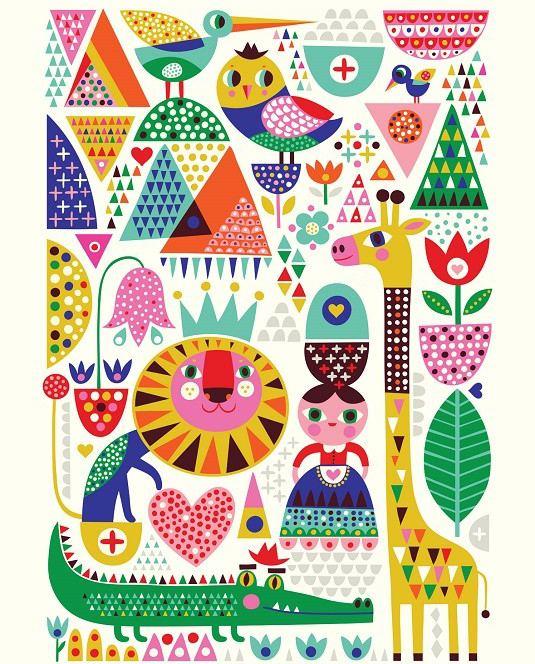 Scandi. Zoo Poster (50 x 70 cm)