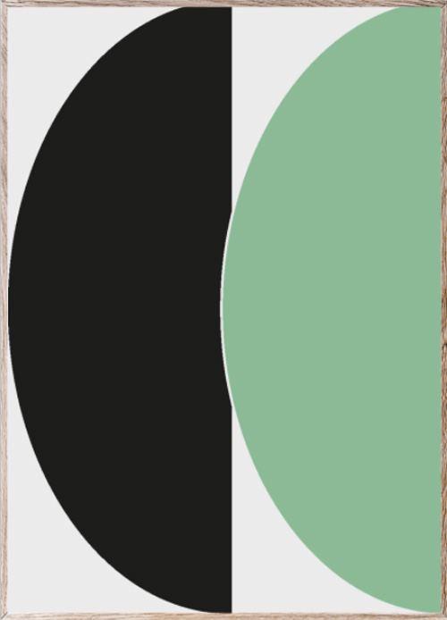 Half Circles III Green/Blue Poster (50x70cm)