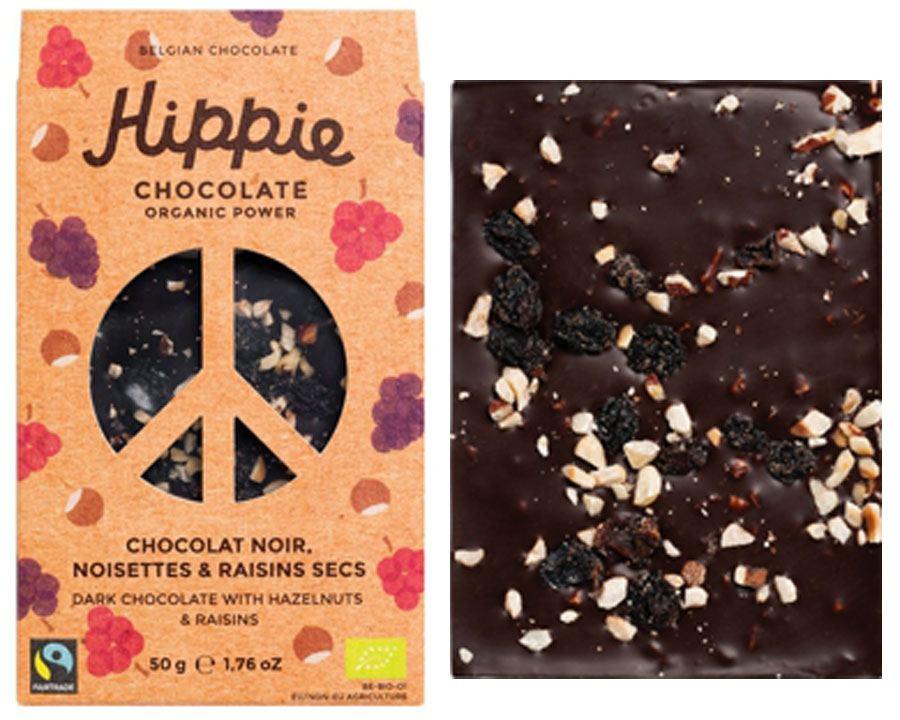 Hippie Chocolate Organic Power Dark Hazelnut Raisins