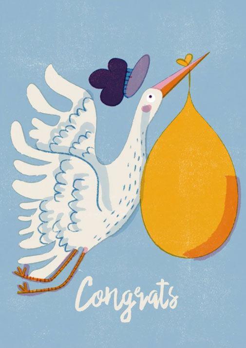 Stork Postkarte