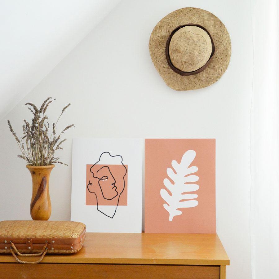 Feuille Terracotta Poster (30 x 40cm)