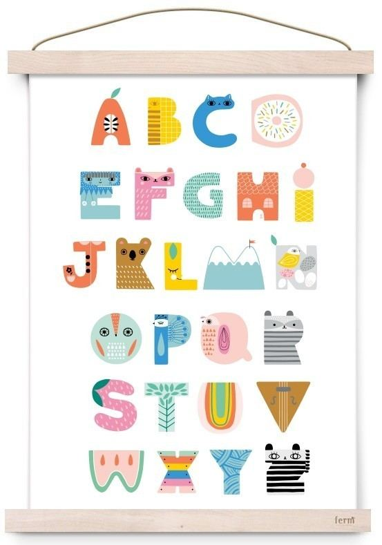 ABC Shaped Poster (A3)