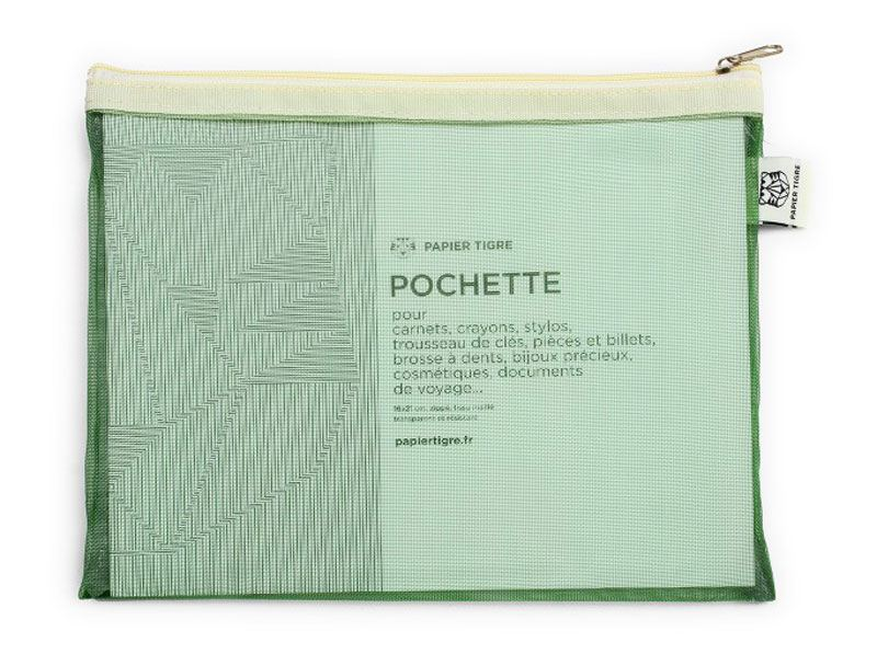 Papier Tigre Mesh Pocket M Green