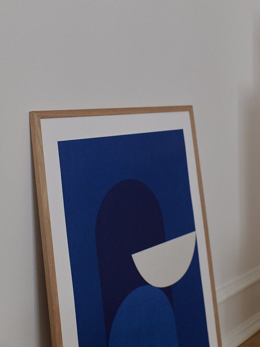 Abstract Blue Poster (50x70cm)