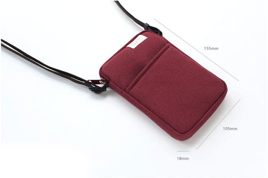 Low Hill Pocket Side Bag Brick Red