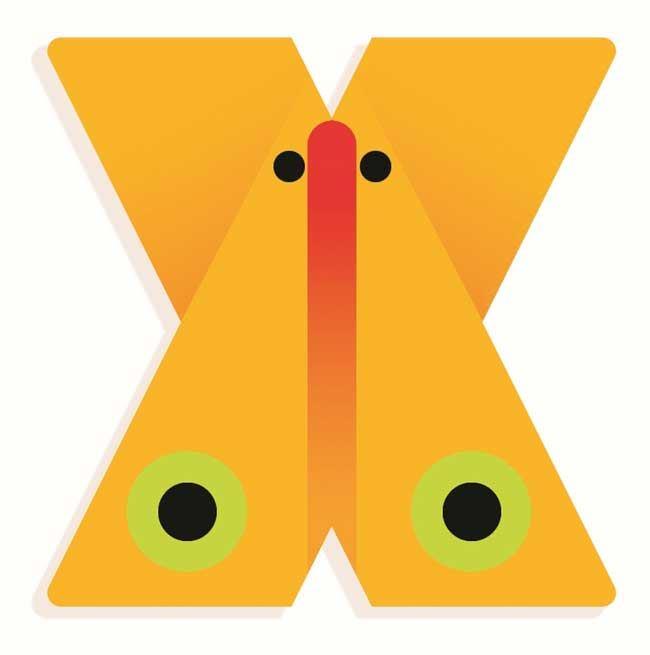 Tierbuchstabe X
