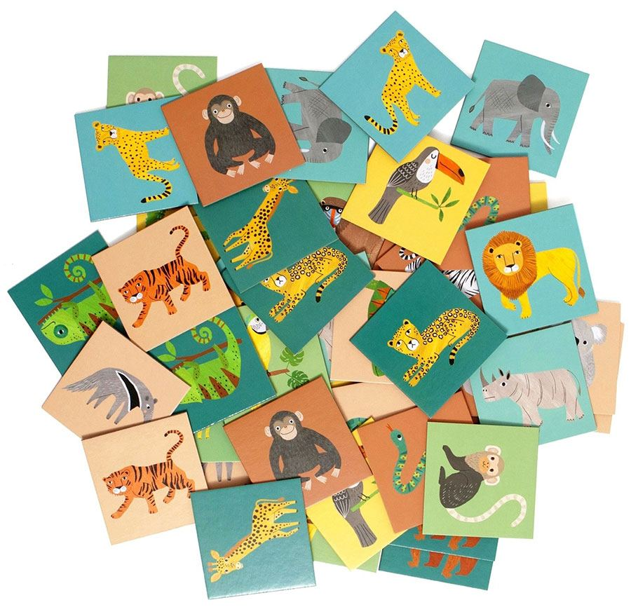 Memory Game Jungle Animals