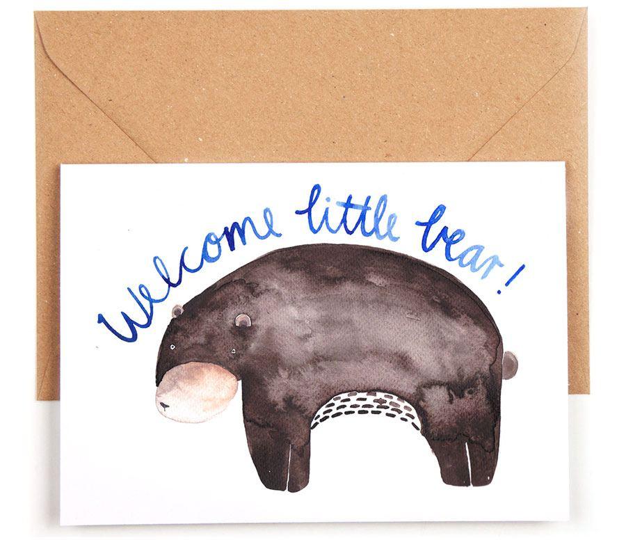Welcome Little Bear Karte