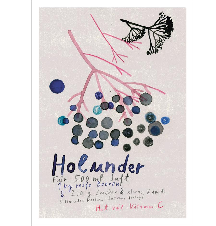 Holunder Postkarte A6