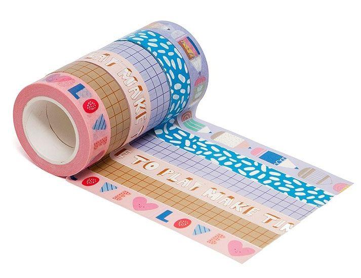 Make Time To Play Washi Tapes (6er Set)