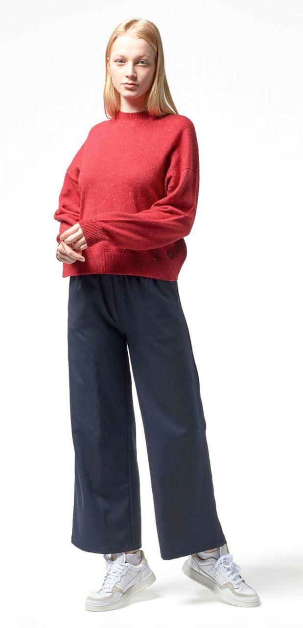 Frankie Strickpullover Navy Blue Nep