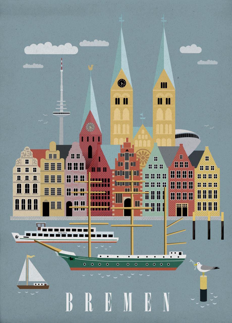 Bremen 2 Postkarte