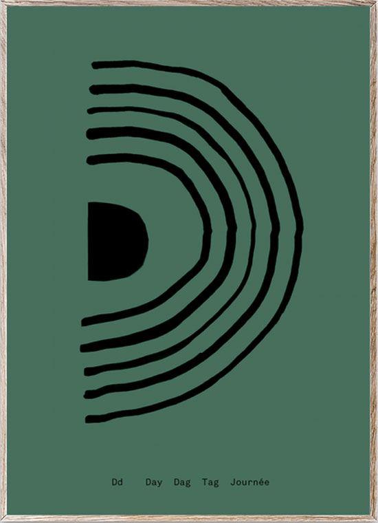 D - Alphabet Spaghetti Letter Print (Din A5)