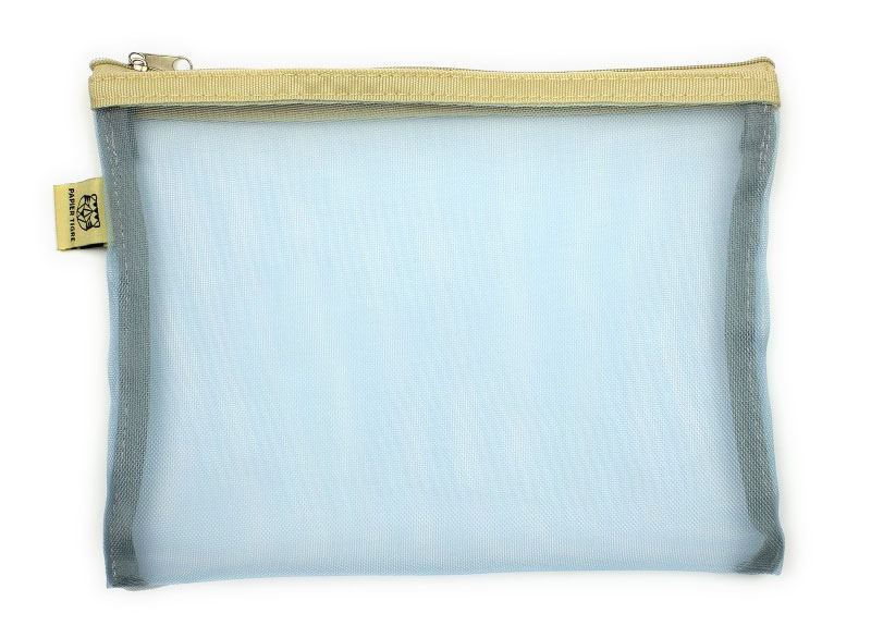 Papier Tigre Mesh Pocket M Light Blue