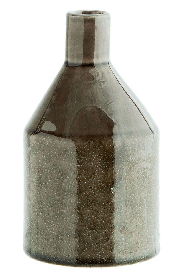 Steingut Vase Stone Grey
