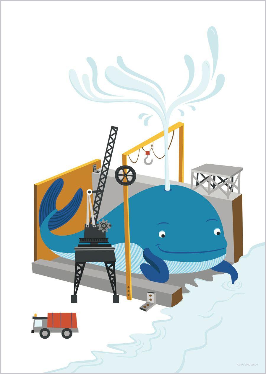 Wal in der Werft Print (Din A3)