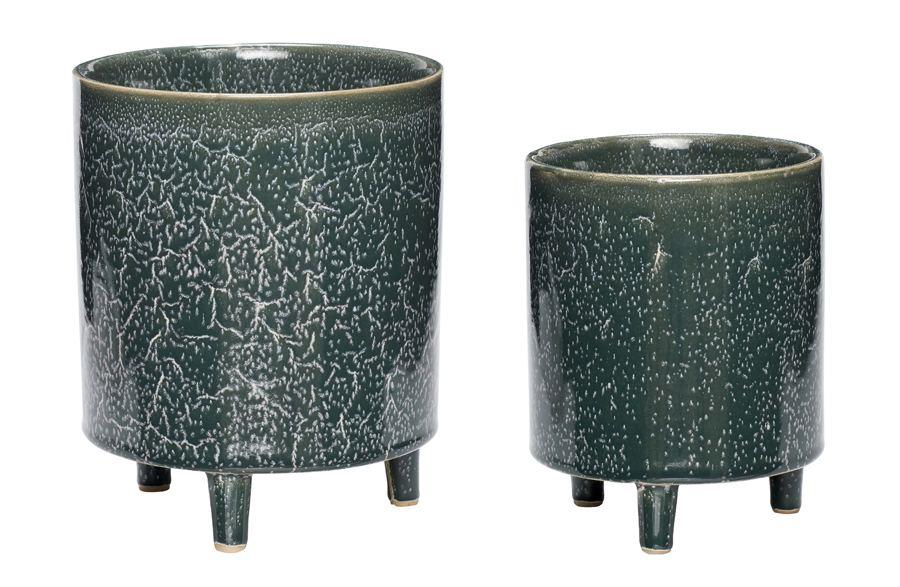 Keramikübertopf Grün (div. Größen)