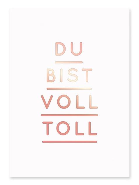Du Bist Voll Toll Postkarte (A6)
