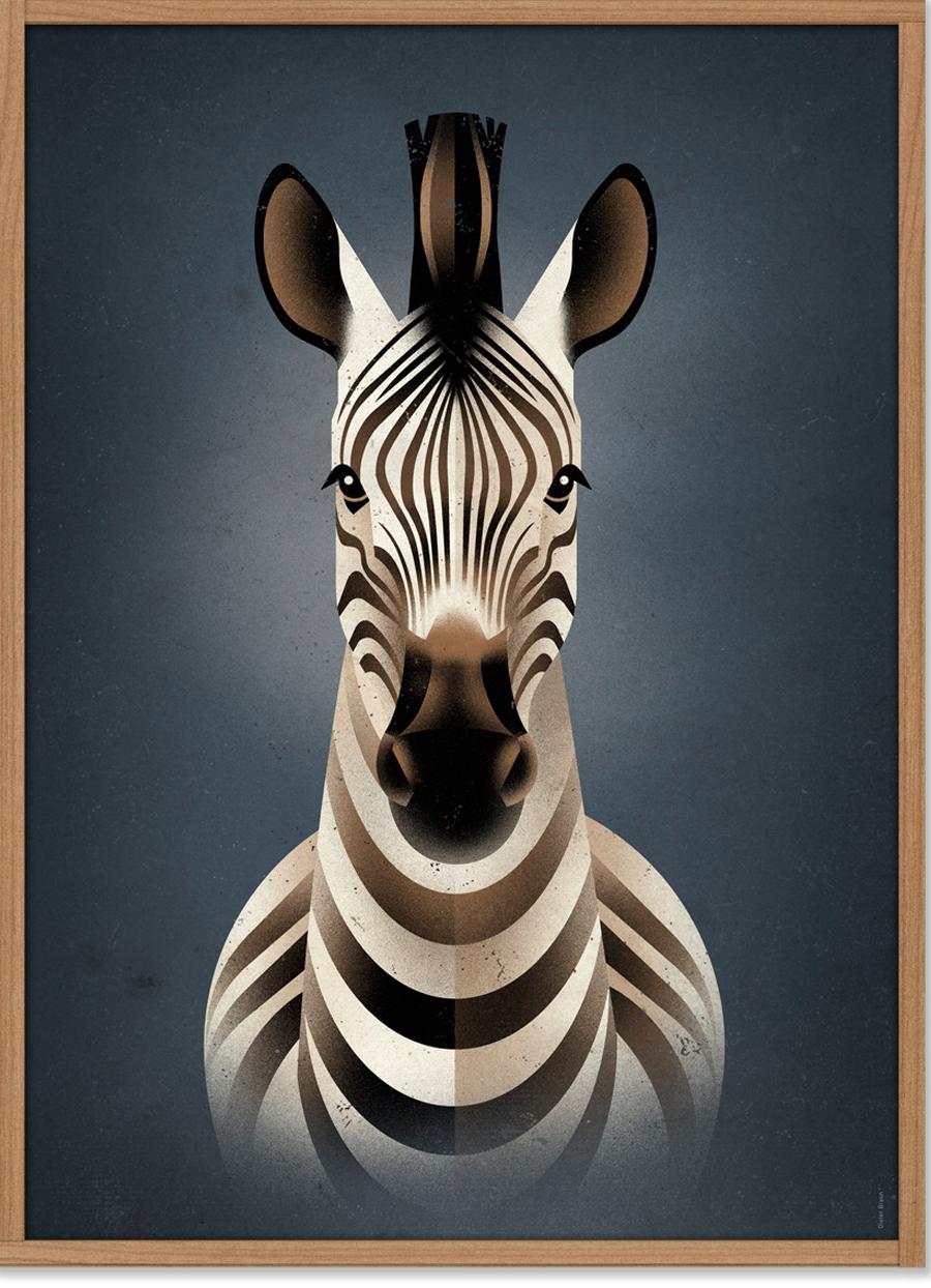 Zebra Poster (50x70cm)