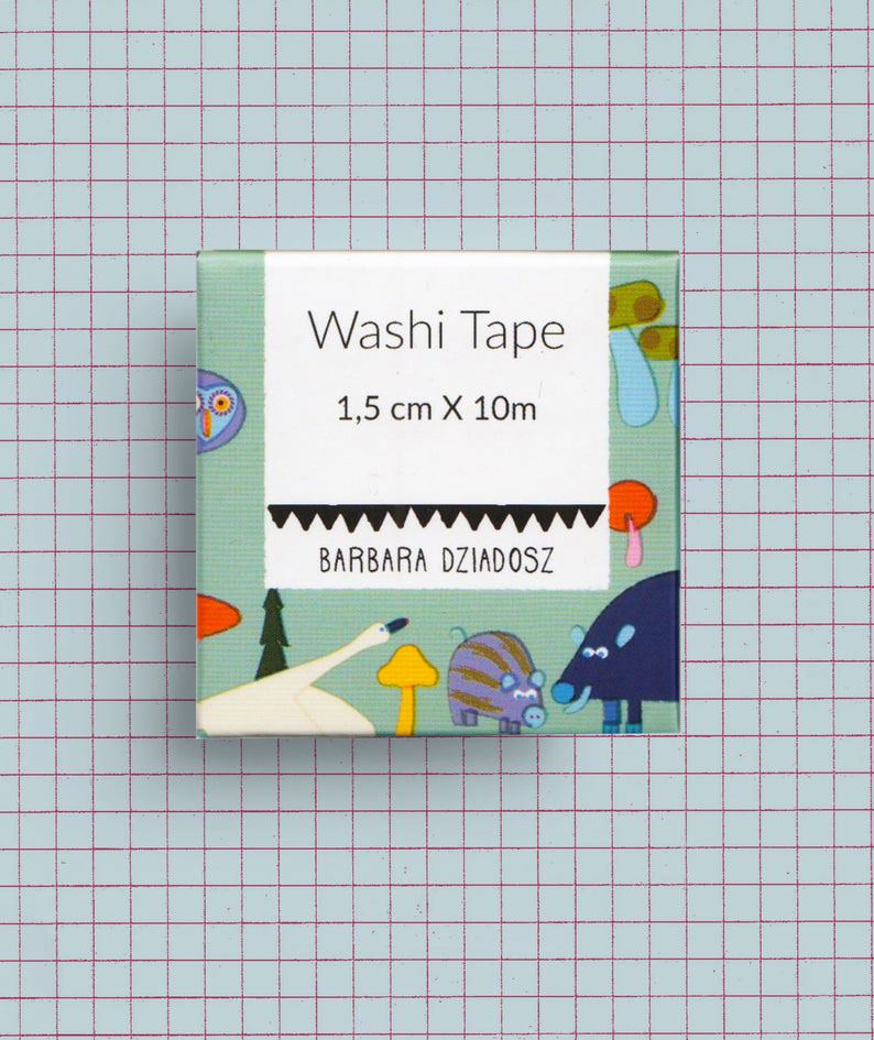 Woodland Animals Washi Tape