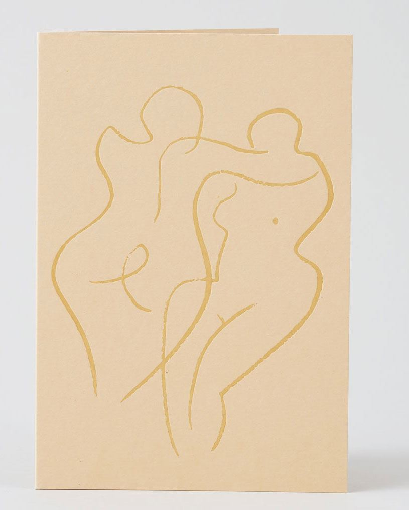 Couple Klappkarte (Letterpress)